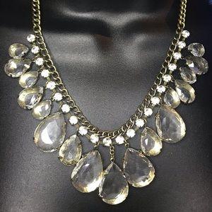 Crystal Clear Traci Lynn Gold Necklace O/S